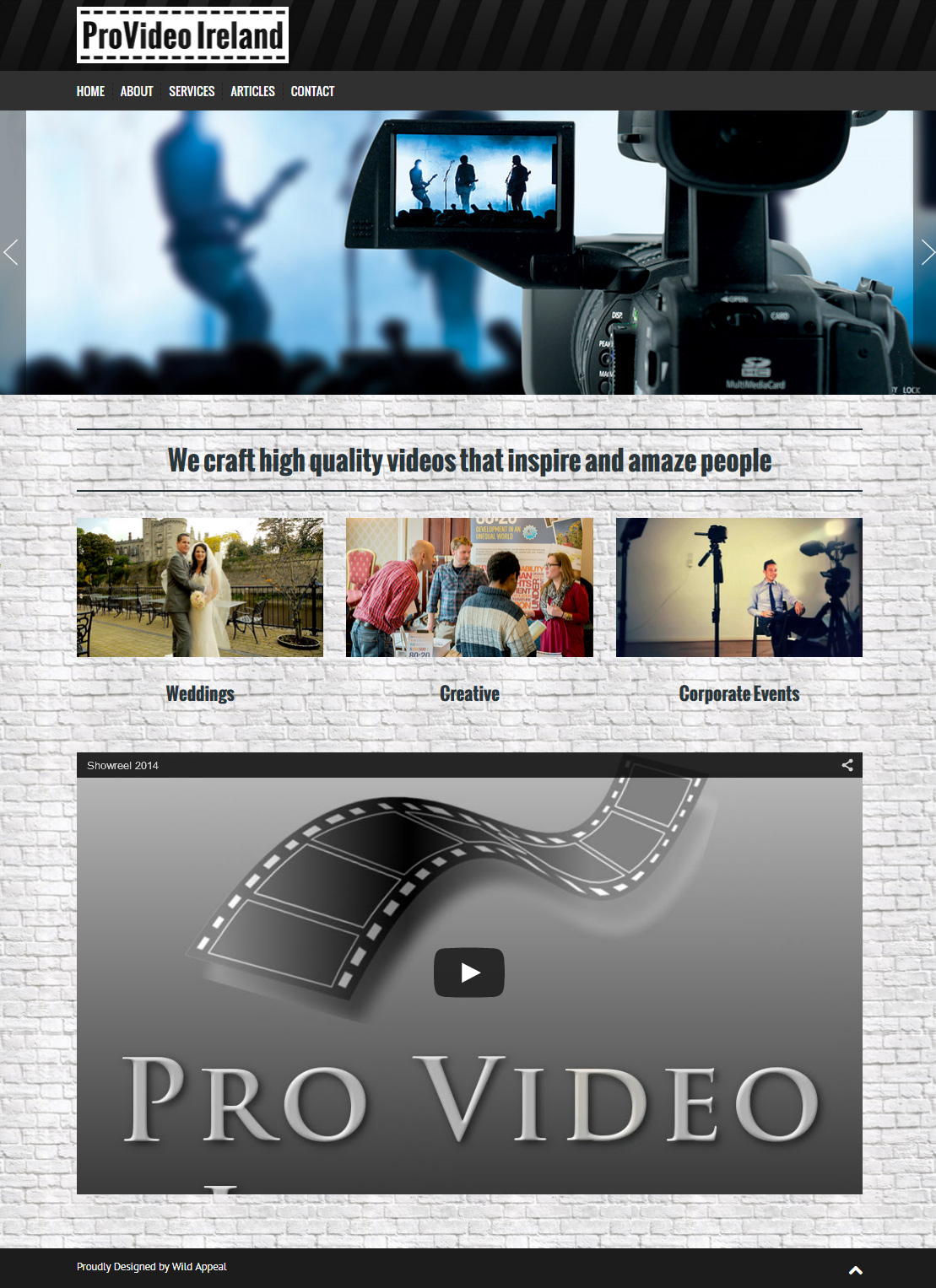 ProVideo Ireland | WildAppeal Irish Web Design
