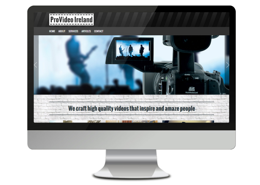 ProVideo Ireland Irish Web design and website developers wildappeal.com